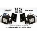 Pack 2xWORK-PRO Longue Portée + 2xFixations Wrangler