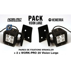 Pack 2xWORK-PRO Vision Large + 2xFixations Wrangler