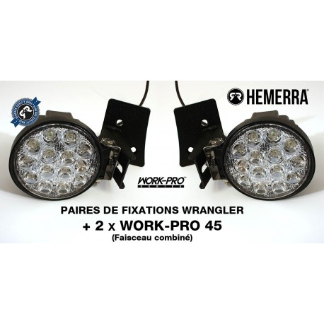 Pack 2xWORK-PRO 45 Combiné + 2xFixations Wrangler