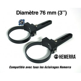 "Paire de fixations pour tube - 76 mm (3"")"