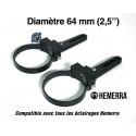 """Paire de fixations pour tube - 64 mm (2,5"""")"""